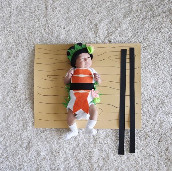 Vestida de sushi!