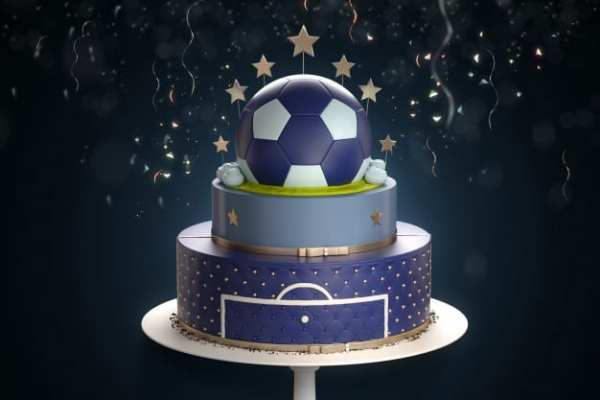 bolo de aniversário de bola
