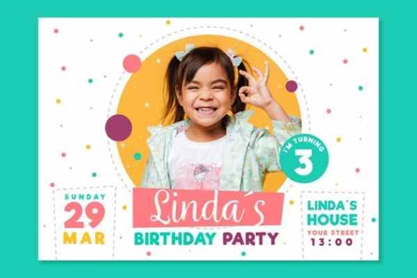 convite festa de criança