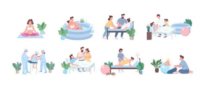posições de parto natural