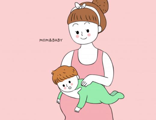 posição para colocar bebê para arrotar no ar