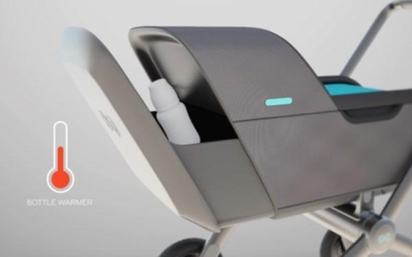 compartimento para manter aquecida a mamadeira do carrinho Smartbe