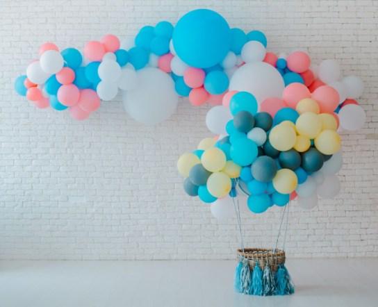 Balões em festa de aniversário