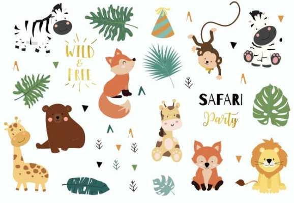 chá de bebê do safari