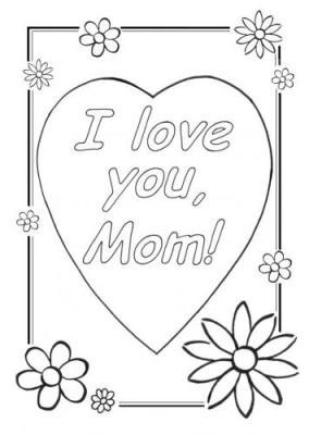 desenho de coração do dia das mães
