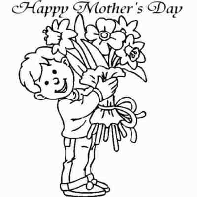 desenho do dia das mães para colorir