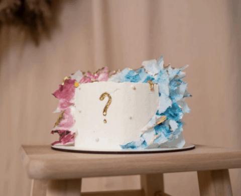decoração bolo chá revelação