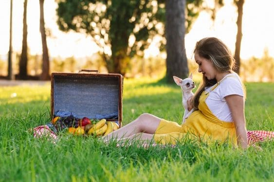 fotos de grávida com cachorro