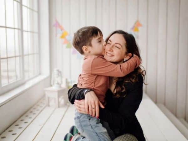 Ensaio mãe e filho estúdio