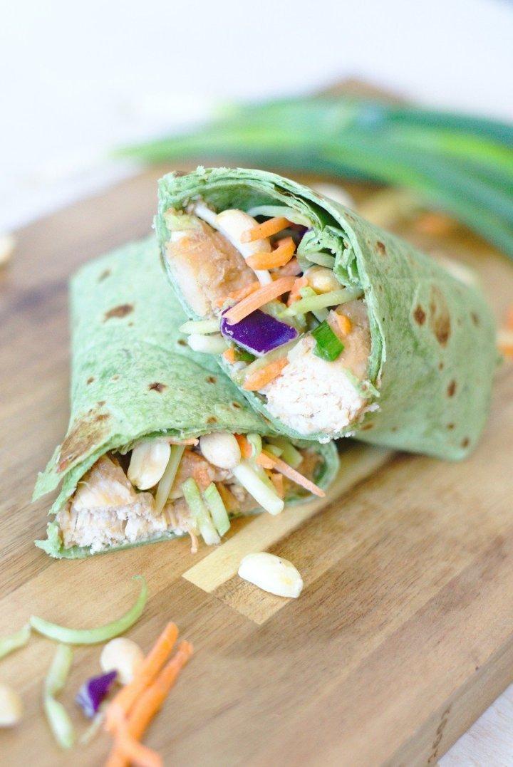 Easy Thai Chicken Wraps