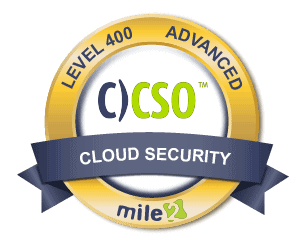 C)CSO Cloud Security Officer badge
