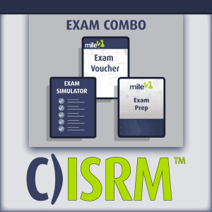 C)ISRM certified information systems risk manager C)ISRM exam combo