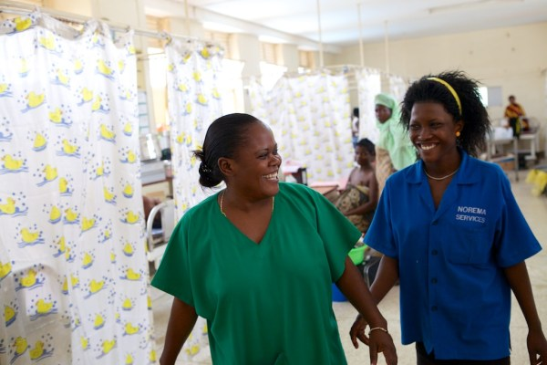nurse's smiling in Uganda