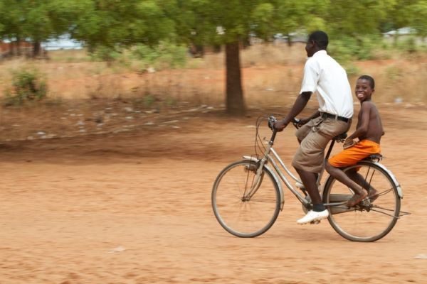School run in Ghana