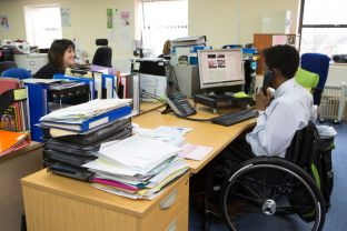 Tim Phillips chairperson at Disability Resource Centre, Birmingham.