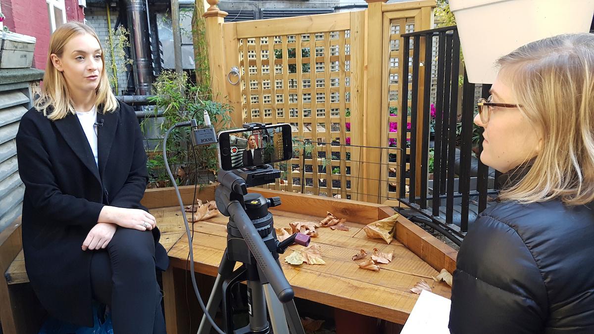 Smartphone film interview