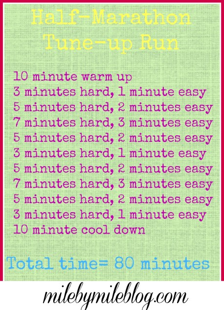 Get ready for a half marathon by following this workout