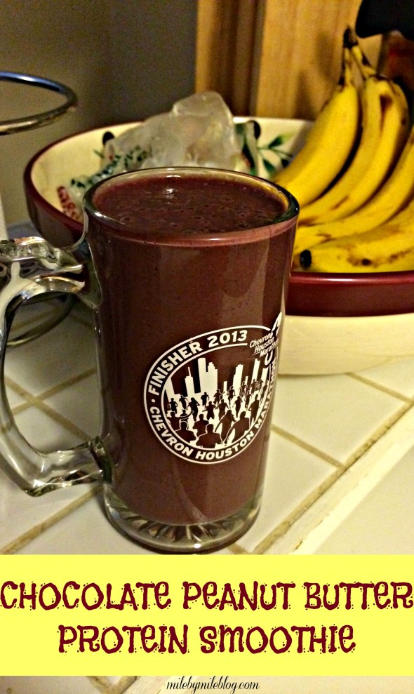A sweet and satisfying smoothie with fruits, veggies, and protein powder. Perfect post-run or as a snack any time of day!