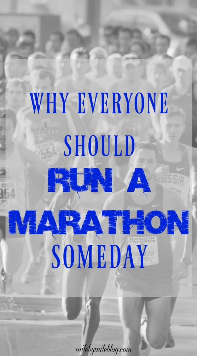 Maybe marathons aren't for everyone, but they are a great example of something that can push you out of your comfort zone. Here are 10 reasons everyone should run a marathon, or do something that challenges them.