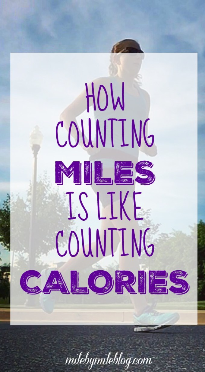 Do you obsess over how many miles you run each week? It can be really similar to worrying about how many calories you eat each day. Both can be stressful habit and not necessarily helpful. Maybe its time to try to let go of worrying about those numbers.