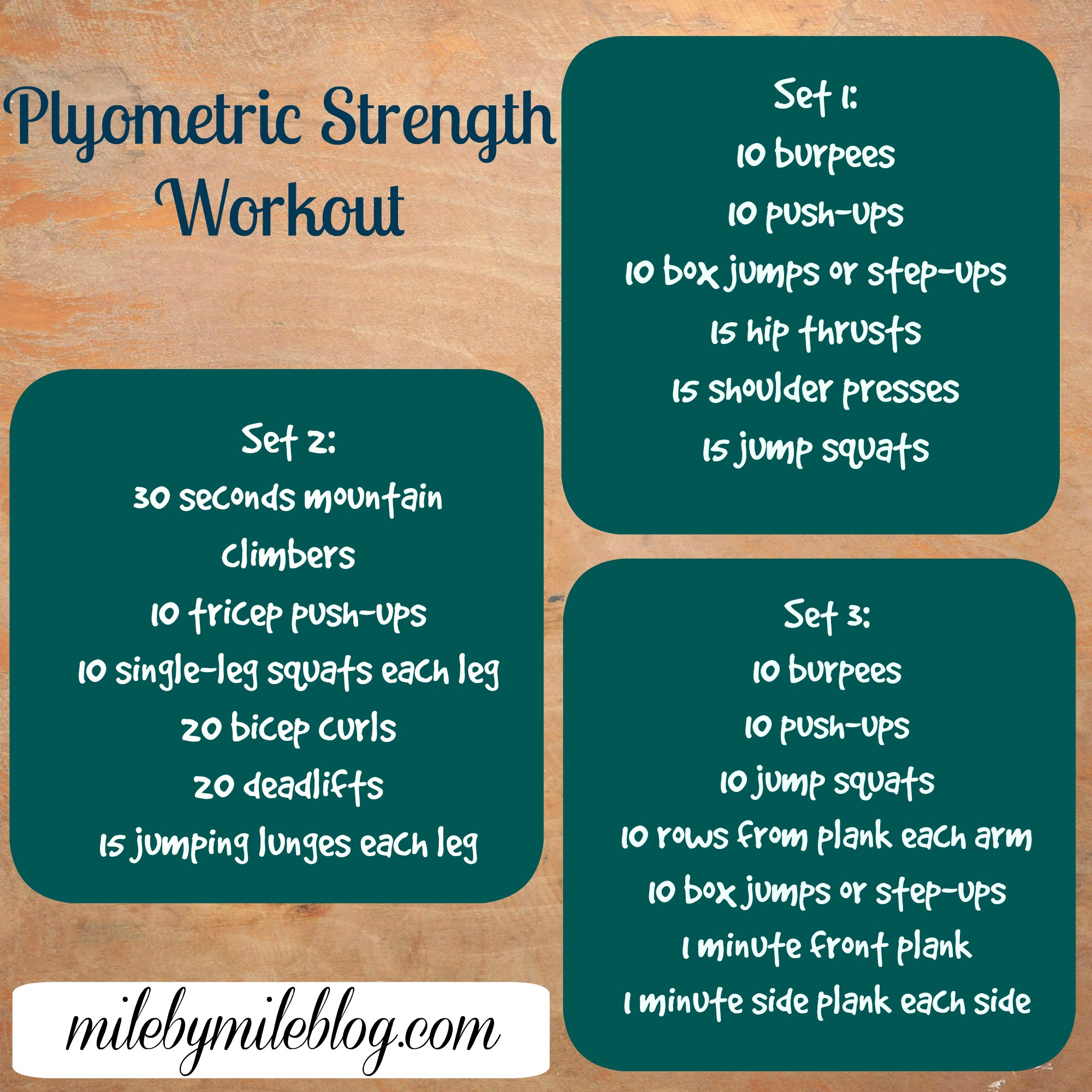 Plyometric Strength Workout And Supplemental Exercises For