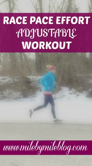 Race Pace Adjustable Workout