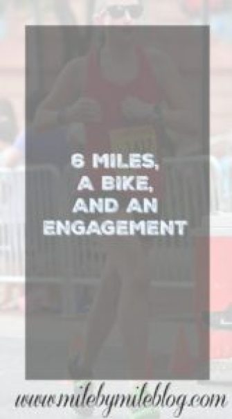 6 Miles, a Bike, and an Engagement