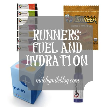 Runners fuel and hydration