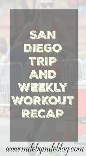 San Diego Trip and Weekly Recap