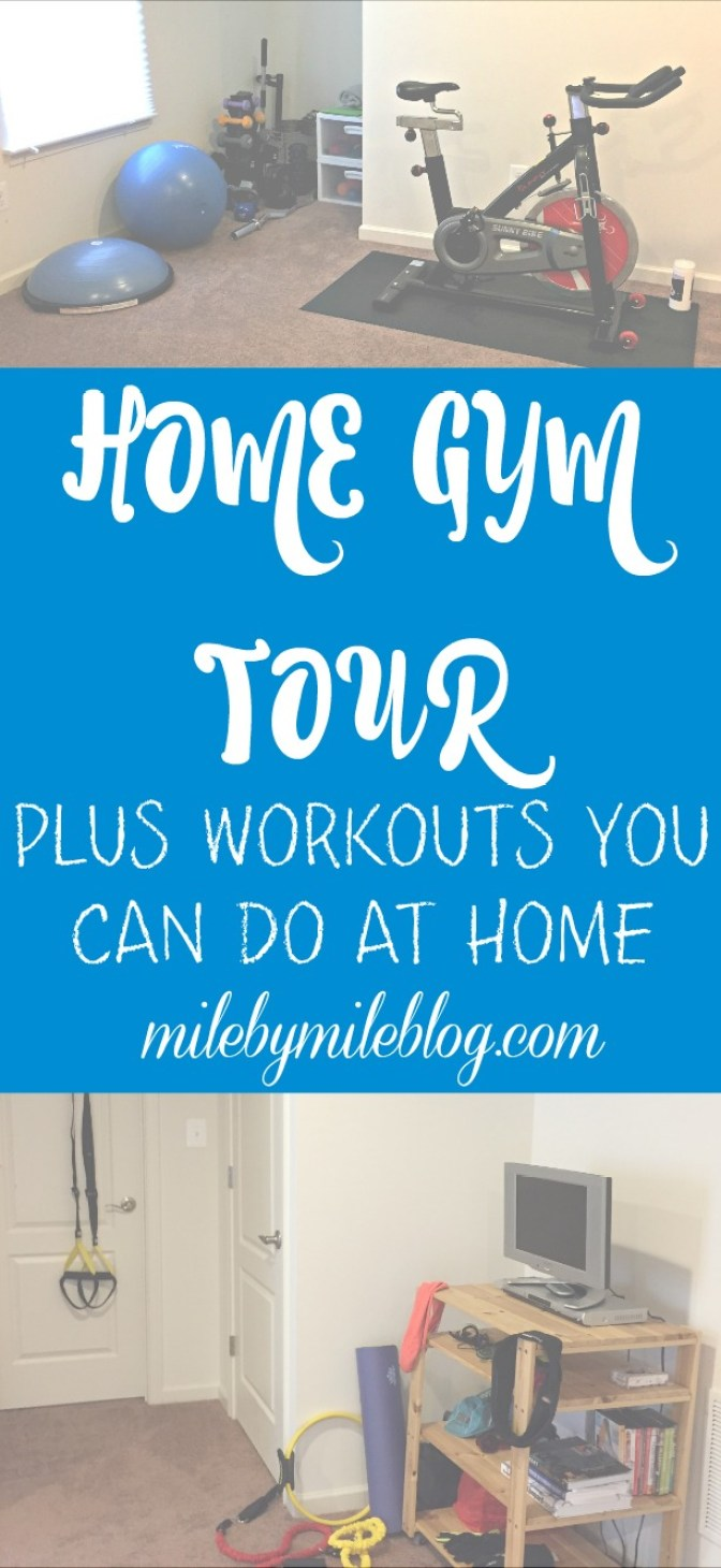 Looking for ways to get in a workout at home? Check out this post to see how I have built up my home gym over the years, plus find some workouts that can be done without a gym! #workout #fitness #homegym