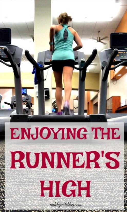 Enjoying the runner's high