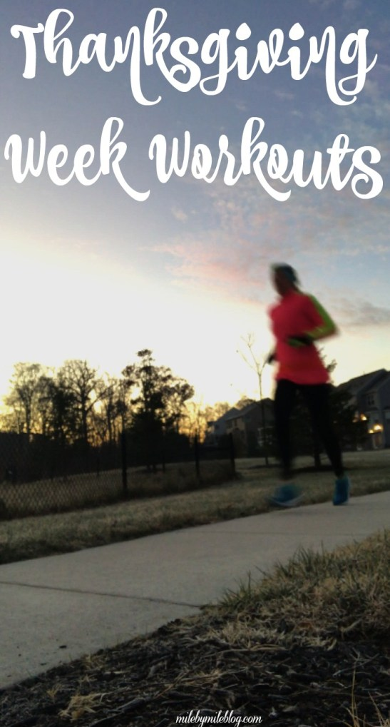 Thanksgiving week was a short but busy one. Click post to see how my workouts went, which included my first 5k in a year and a half!