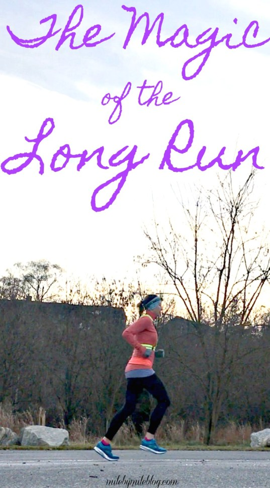 What is is about the long run that can make all your problems disappear, at least for awhile? Last week's long run did just that for me. There is definitely some magic to the long run!