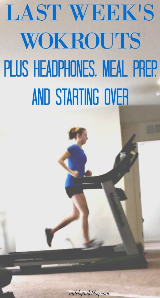 Who else would like a do-over for the start of 2018? In today's post I'm sharing my workouts from last week, as well as a headphone update and meal prep from the weekend. #workouts #mealprep #running