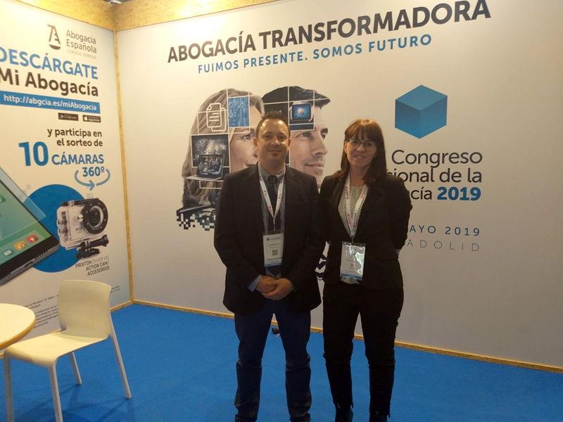 Judith Giner y Óscar Domínguez en el Congreso Nacional de la Abogacía