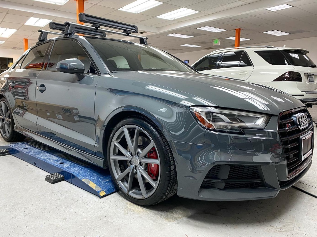 ceramic coating Audi S3. Look at how glossy that paint looks!