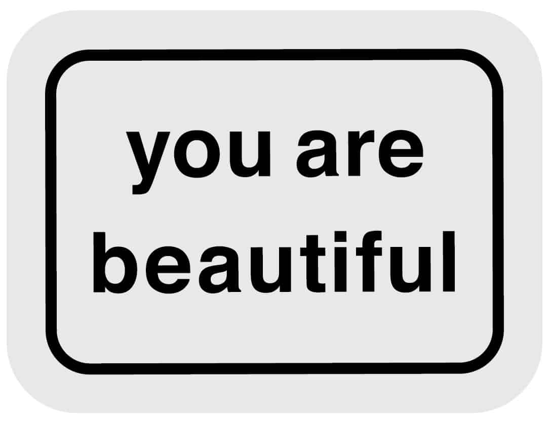 Get Free You Are Beautiful Stickers Mile High On The Cheap