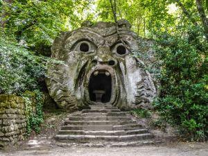 arco dei Mostri in Bomarzo, province of Viterbo, Lazio, Italy