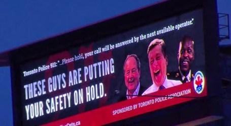 Police union uses new billboard to slam mayor, police chief, board chair