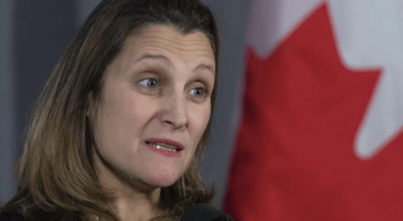 Freeland confirms Canadian detained in Macau