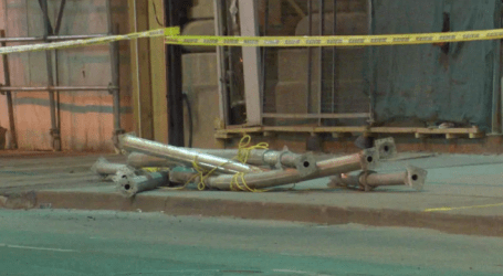 Metal debris from construction site closes Yonge Street for hours