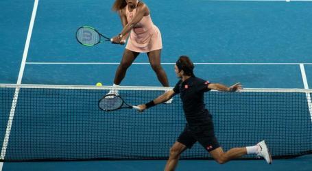 Roger Federer vence Serena Williams em pares mistos