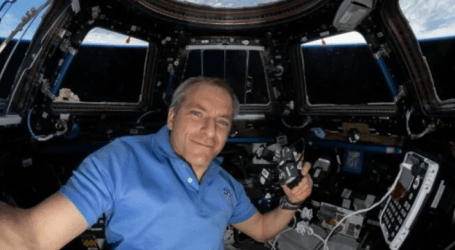 Canadian astronaut David Saint-Jacques helps repair leaky space toilet