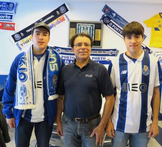 Mário Damião com os filhos, Emanuel e Daniel
