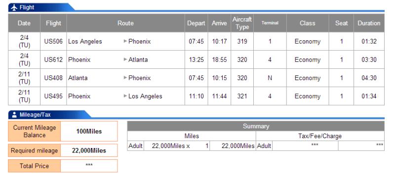 LAX-PHX-ATL-PHX-LAX is 3915 miles flown.