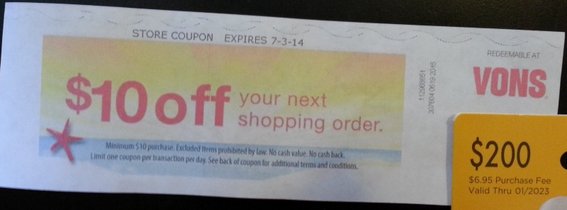 Coupon 7-4 Vons