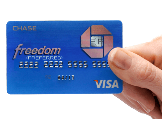 The New Chase Freedom (Preferred) Card with Chip and Sig.