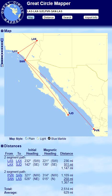 Using Great Circle Mapper to Find Flight Distances - milenomics