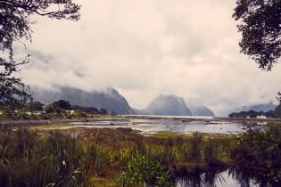 Milford Sound, UNESCO, Weltkulturerbe, Aussicht, view, Landscape, Lanschaft, Regen, regnerisch, bewölkt, cloudy, Fjordland Nationalpark