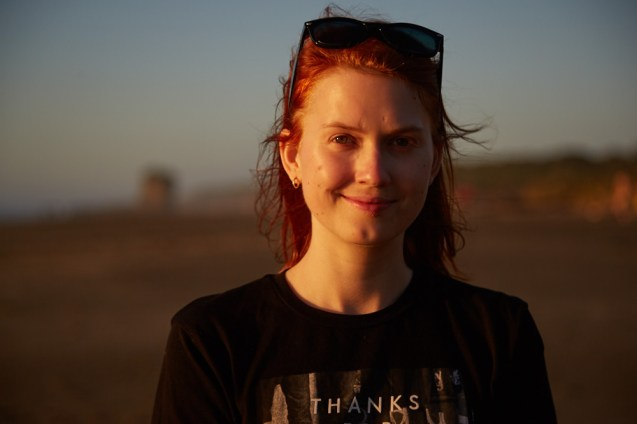 Punakaiki, Chrisi, Portrait, Sonnenuntergang, Miles and Shores